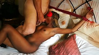 HOT LITTLE BUNNY ALL TIED UP ,, MY FIRST PORN MOVIE